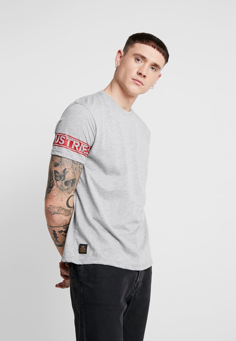 Alpha Industries - T-shirt print - grey heather