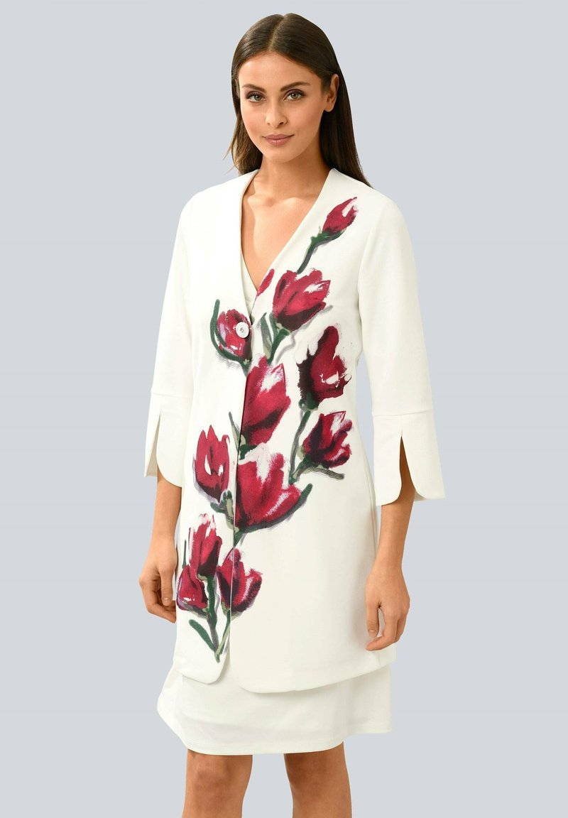 Alba Moda - Short coat - off-white rot