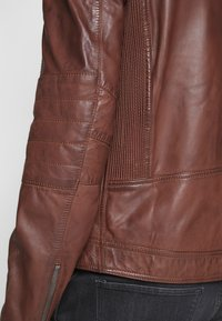 Goosecraft - Veste en cuir - rodeo brown - 6