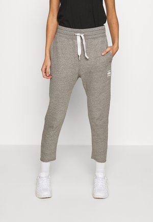 3D TAPERED CROPPED  - Tracksuit bottoms - avalanche heather