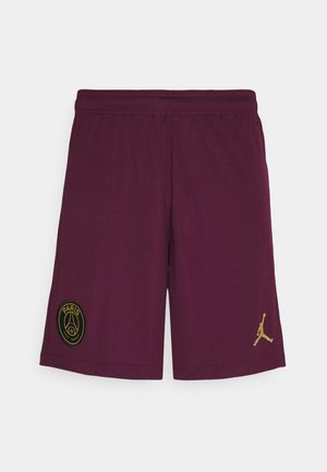 PARIS ST GERMAIN - Träningsshorts - bordeaux/truly gold