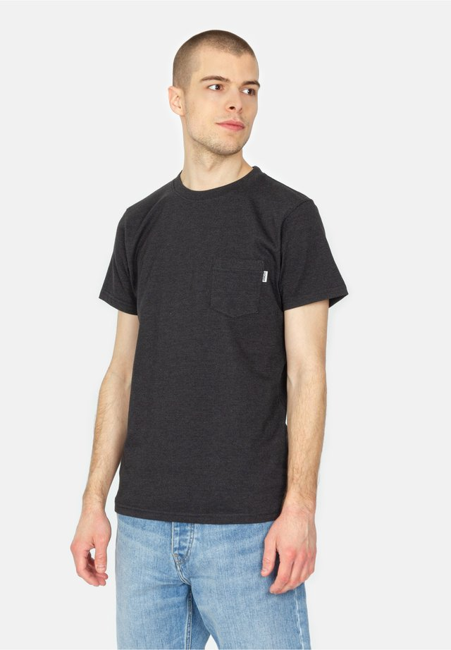 BLAKE - T-shirt basique - black melange