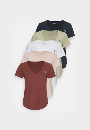 WHOLESALE 5 PACK - T-shirt basic - white/hot chocolate/pink/seagrass/navy