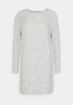 ONLCAROL DRESS  - Pletené šaty - light grey
