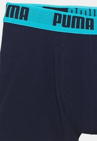 Puma - BOYS BASIC BOXER PRINTED STRIPE 2 PACK - Pants - fluo red/blue - 4