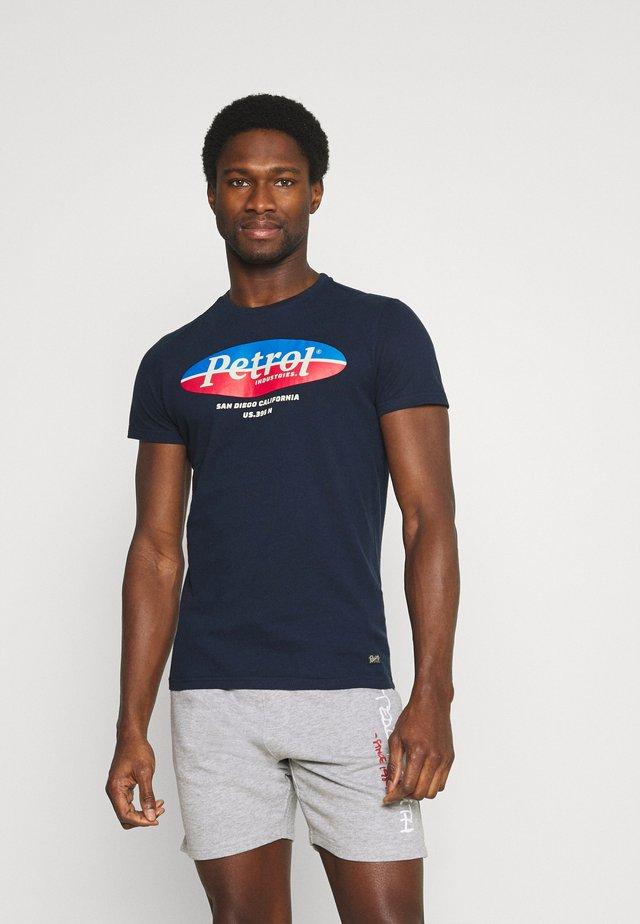 T-shirt con stampa - dark petrol