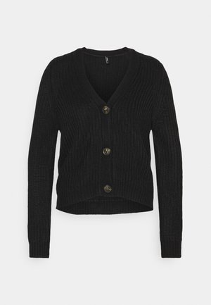 ONLLEXI BUTTON CARDIGAN - Cardigan - black