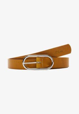 POURVUE D'UNE BOUCLE ARRONDIE - Belt - yellow