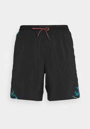 STRIDE - Pantalón corto de deporte - black/silver