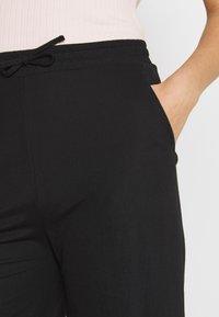 Even&Odd - TIE WAIST JERSEY CULOTTE - Trousers - black - 5
