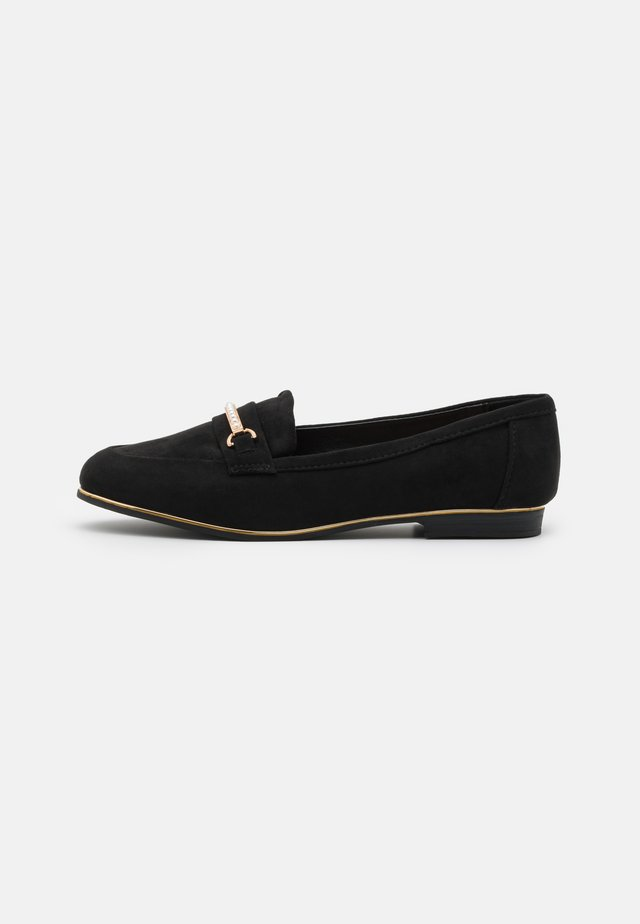 WIDE FIT LEILA SNAFFLE LOAFER - Loafers - black