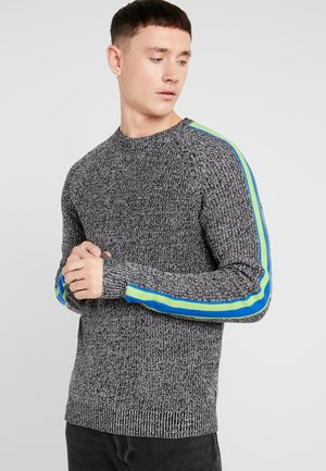ONSVP SIMON SLEEVE STRIPE - Jumper - black/white