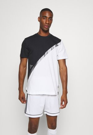 BLOCK TEE - T-shirt med print - white/black