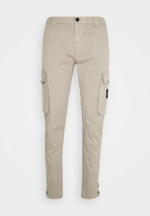 WASHED PANT - Pantalon cargo - elephant skin