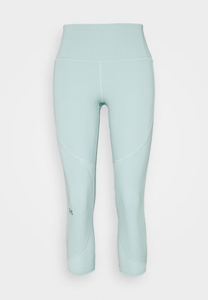 UA RUSH SIDE PIPING CROP - Pantalón 3/4 de deporte - enamel blue