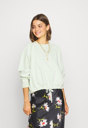 CINCHED CREW - Sweatshirt - light green