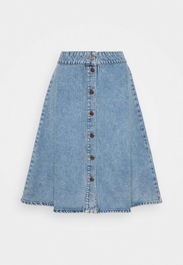 VINTAGE INDIGO STELISSA - Denim skirt - washed blue