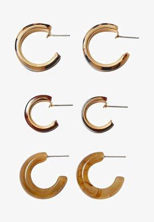 3PACK - Øreringe - gold-coloured