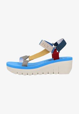 Sandalen met sleehak - multi (azure)