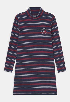 STRIPE DRESS - Jerseyjurk - twilight navy