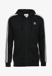 adidas Originals - STRIPES UNISEX - Huvtröja med dragkedja - black - 3