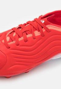 adidas Performance - COPA SENSE.1 FG UNISEX - Kopačky lisovky - red/footwear white/solar red - 5