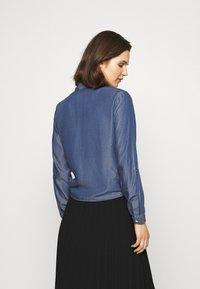 comma - LANGARM - Button-down blouse - dark blue - 2