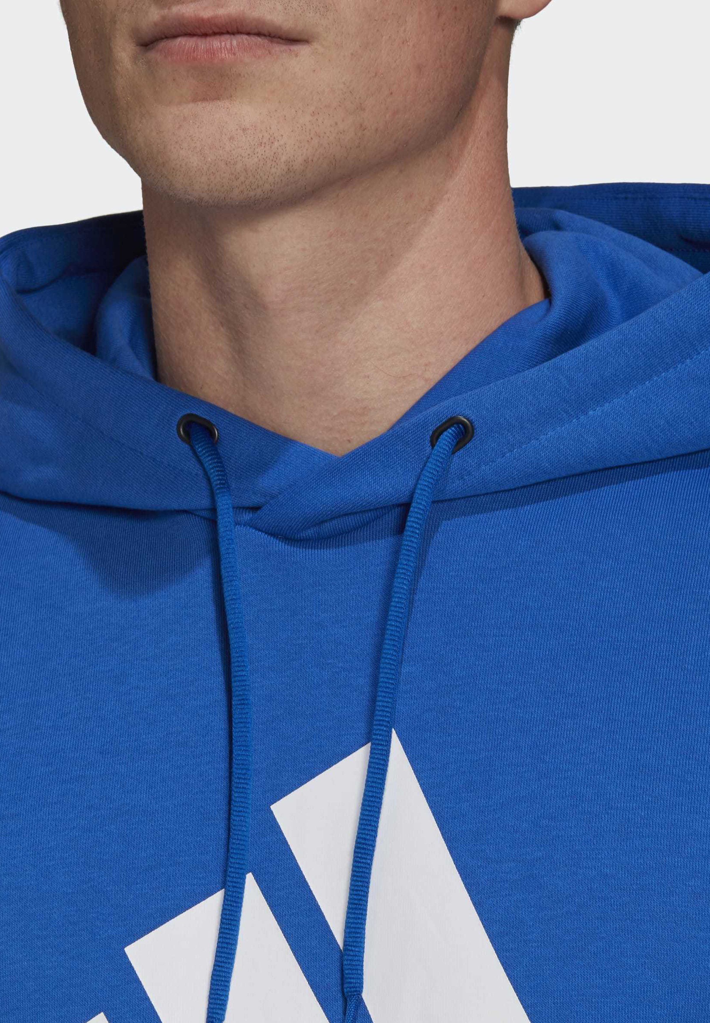 adidas Performance 2020-03-25 MUST HAVES BADGE OF SPORT HOODIE - Sweat à capuche - blue