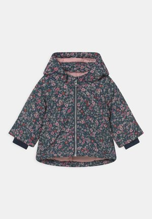 NBFMAXI JACKET PETIT FLOWER - Winter coat - dark sapphire