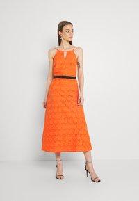 Lace & Beads - CORALIE MIDI - Koktejlové šaty/ šaty na párty - orange - 0