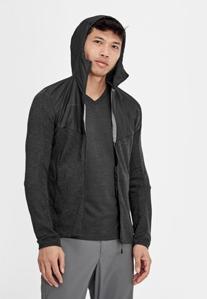 ALVRA - Outdoor jacket - black/melange-black