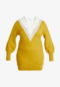 Simply Be - ELEVATED ESSENTIALS V-NECK DRESS - Strikket kjole - colour block chevron - 5