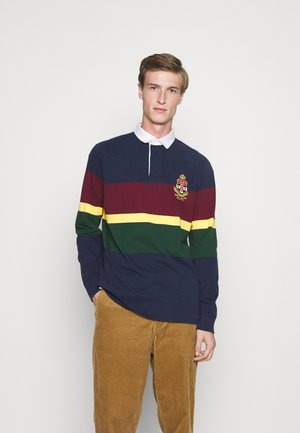 LONG SLEEVE RUGBY - Polo - french navy/multi