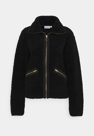 YIN AND YANG PILE JACKET - Winter jacket - black