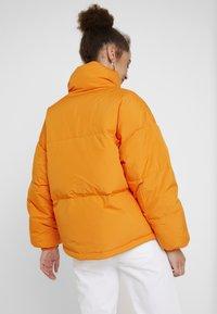 Benetton - OVERSIZED SPORTY SHORT DOWN JACKET - Down jacket - orange - 2
