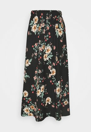 ONLZILLE NAYA SKIRT - Maxi skirt - black