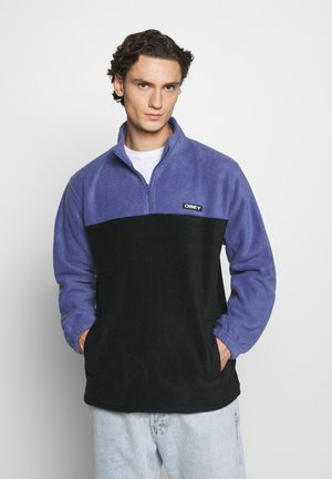 EULOGY MOCK NECK ZIP - Fleece trui - black