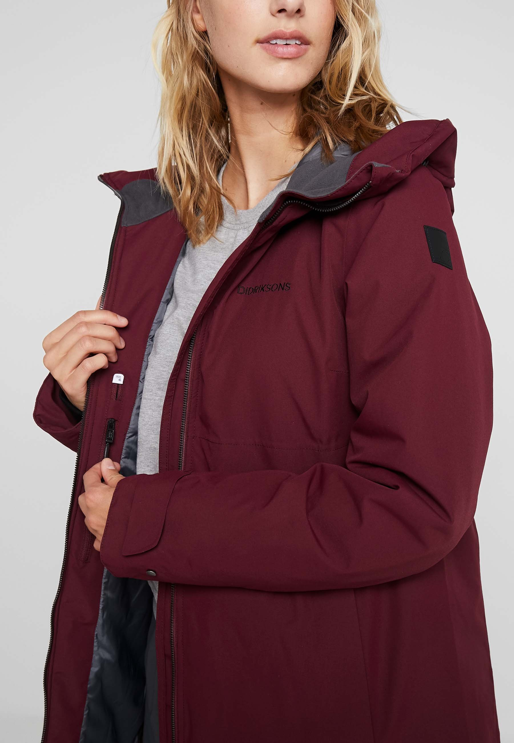 Didriksons HELLE Parka anemon red Zalando.no