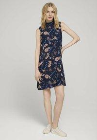 TOM TAILOR - Day dress - navy floral design - 1