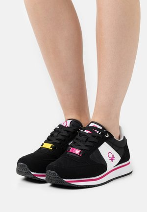 WORD MIX - Trainers - black/white