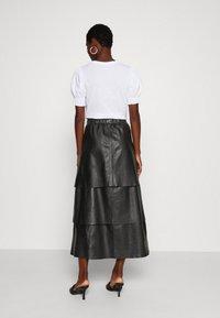 Ibana - SABINE LAYERED SKIRT - Maxi skirt - black - 2