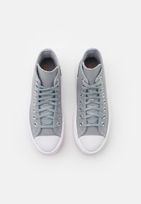 Converse - CHUCK TAYLOR MOVE PLATFORM - High-top trainers - ash stone/flash orange/white - 5
