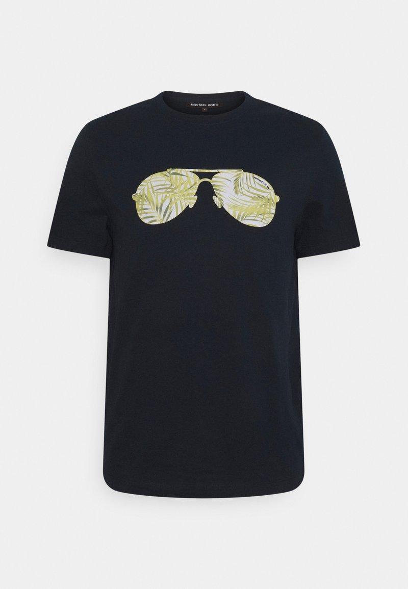 Michael Kors - PALM AVIATOR TEE - Print T-shirt - midnight
