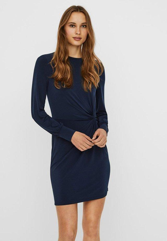 VMTWISTED KNOT SHORT DRESS - Jersey dress - navy blazer