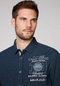 Camp David - FIL À FIL JACQUARD HEMD - Shirt - blue navy - 3