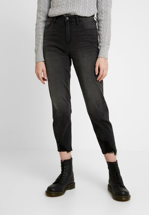 WASH UHR MOM - Relaxed fit jeans - washed black