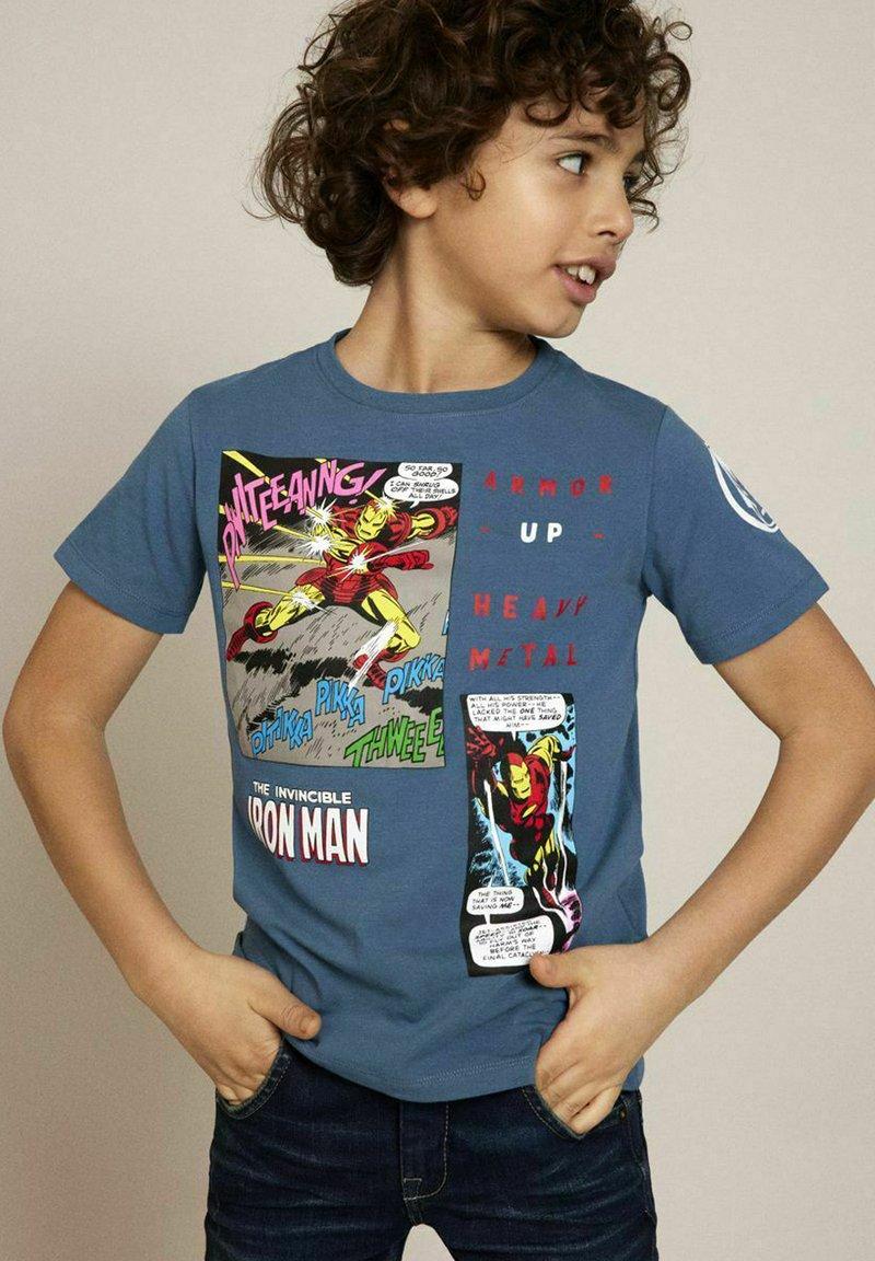 Name it - MARVEL SUPERHERO - Print T-shirt - real teal