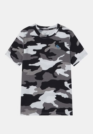 CURVED HEM - Print T-shirt - black