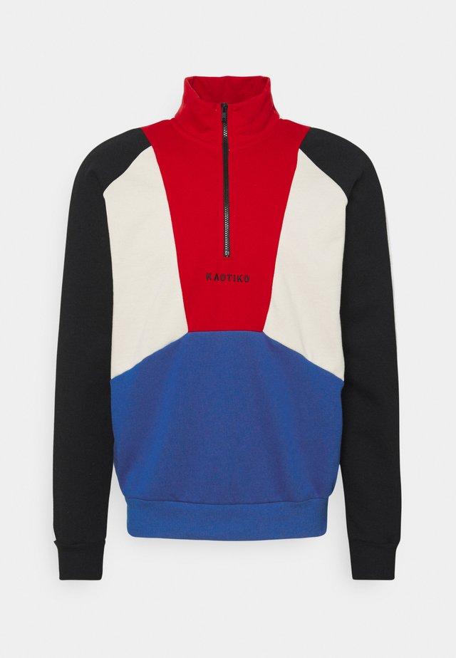 CREW MURRAY UNISEX - Sweatshirt - rojo/royal