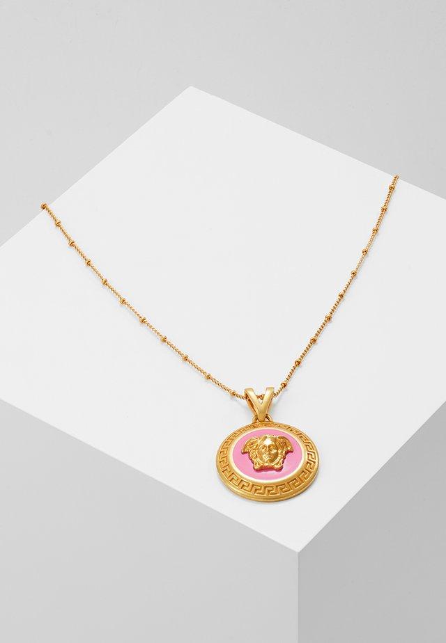 COLLANA - Necklace - fuxia/oro tribute